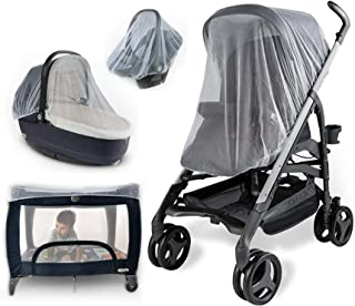 Baby Mosquito Net for Strollers, Carriers, Car Seats, Cradles. Fits Most PacknPlays,..