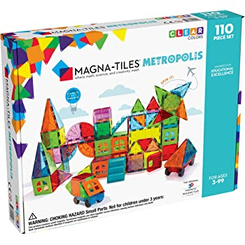 Magna Tiles Metropolis 110Piece Set, The Original, Award-Winning Magnetic Building Tiles for Kids, Creativity & Educational Building Toys for Children, Stem Approved (B07WDDB59W)