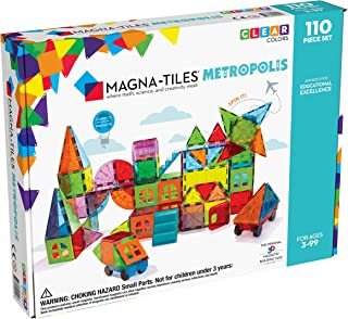 Magna Tiles Metropolis 110Piece Set, The Original, Award-Winning Magnetic Building Tiles for Kids, Creativity & Educational Building Toys for Children, Stem Approved