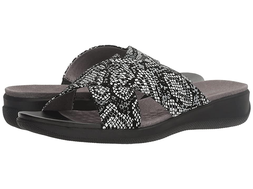 SoftWalk Tillman (Black Snake Printed Python Leahter) Women