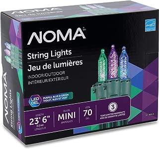 purple green blue christmas lights
