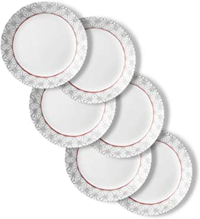 Corelle Chip Resistant Dinner Plates, 6-Piece, Amalfi Rosa