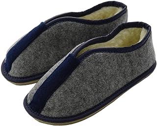 Zapatillas de fieltro de lana virgen natural para niños