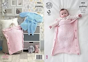 King Cole Knitting Pattern Baby Bath Robe Dressing Gown Sleeping Bag Yummy Chunky (4823)