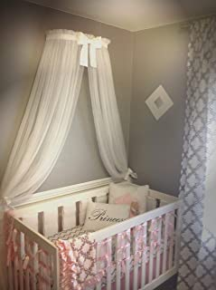 Princess Bed canopy CrOwN FrEe White Sheer curtain Bow cornice coronet teester Nursery Crib custom design So Zoey Boutique SALE