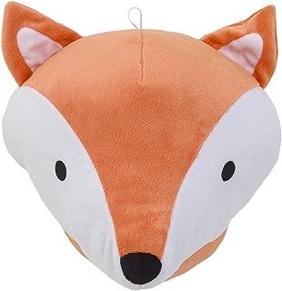 NoJo Aztec Mix & Match Plush Head Wall Decor, Orange, White, Black, Orange Fox