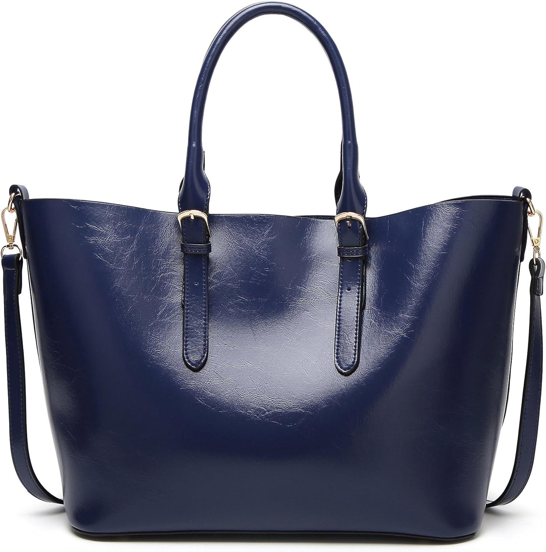 Fayland Women's PU Leather Shoulder Bags TopHandle Handbag Tote Bag Simple Purse Fashion Cross Body Bag