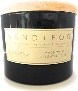 Sand And Fog Espresso Double Wick Candle with Essential Oils12 Oz