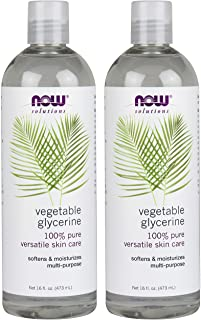 NOW Solutions Vegetable Glycerine, 2 Count