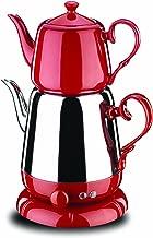 Korkmaz Nosta Elektrikli Çaydanlık Kırmızı/ınox