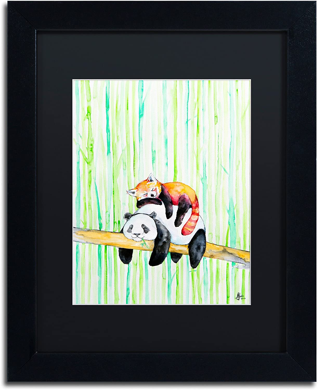 Lullaby by Marc Allante, Black Matte, Black Frame 11x14Inch