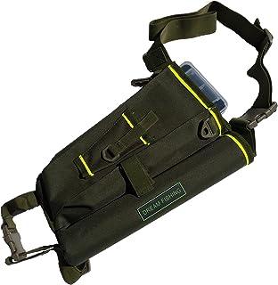 フィッシングバッグ ロッドホルダー ウェストポーチタイプ 2段式ツールボックス付き