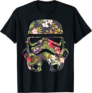 Tropical Stormtrooper Floral Print Graphic T-Shirt