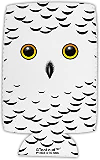 TooLoud Snowy Owl Cute Animal Face Collapsible Neoprene Tall Can Insulator All Over Print