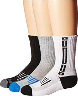 Tech Sport Half Cushion Crew Socks 3-Pair Pack (Toddler/Little Kid/Big Kid/Adult)