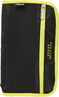 Five Star Pencil Pouch, Pen Case, Fits 3 Ring Binders, Xpanz, Black/Yellow (50206CC8)