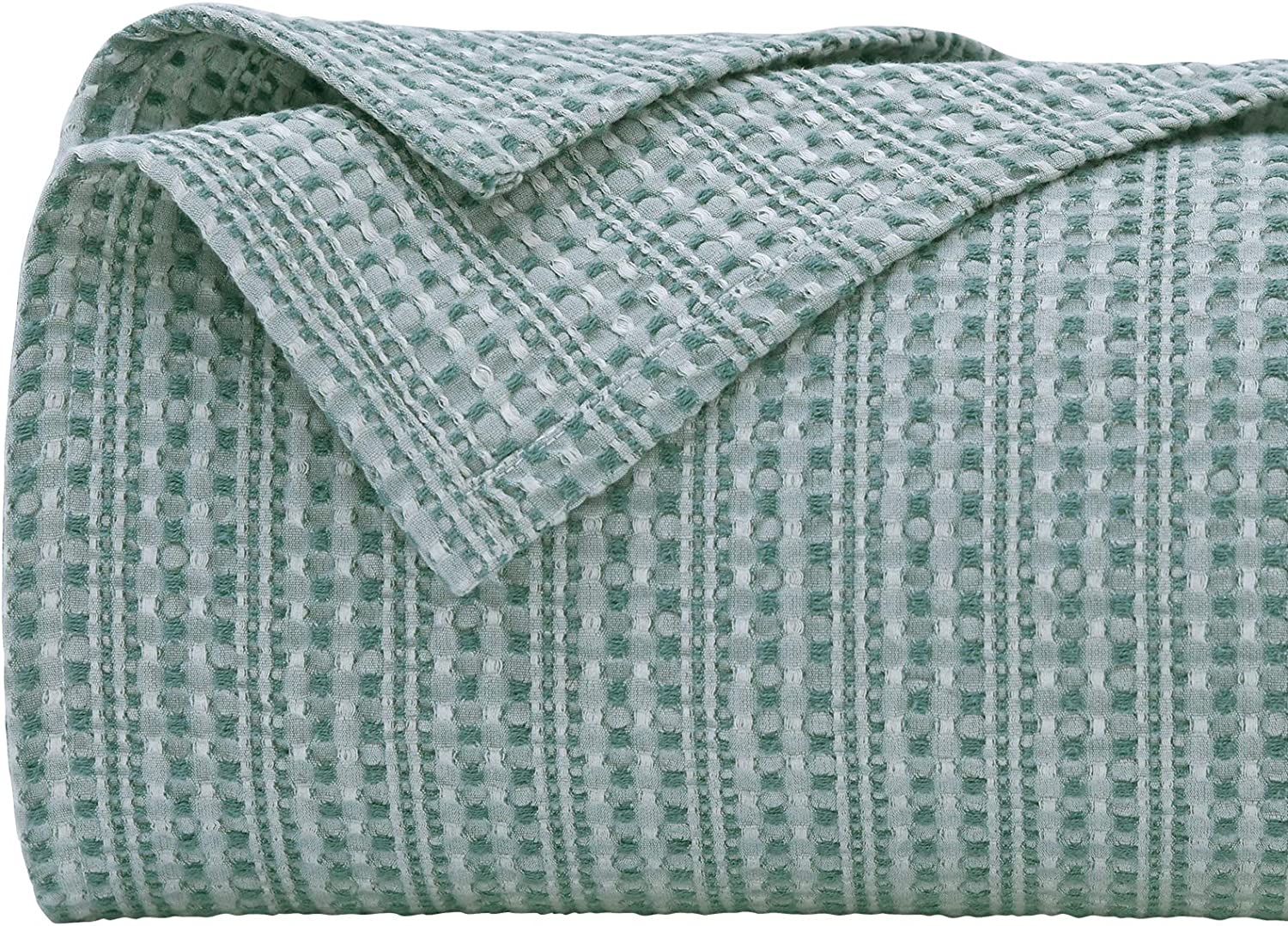 PHF 100% Cotton Cheap sale Waffle Blanket King Dyed Yarn New item Luxurious Size We