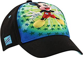 Disney Boys' Mickey Mouse Character Baseball Cap, Red/Blue, Age 2-4
