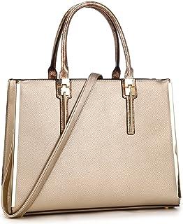 Laptop Bag for Women, Designer Lawyer Briefcase Casual Work Slim Cross-Body Satchel fits 13 Inch MacBook(KK-12-6244-GD)