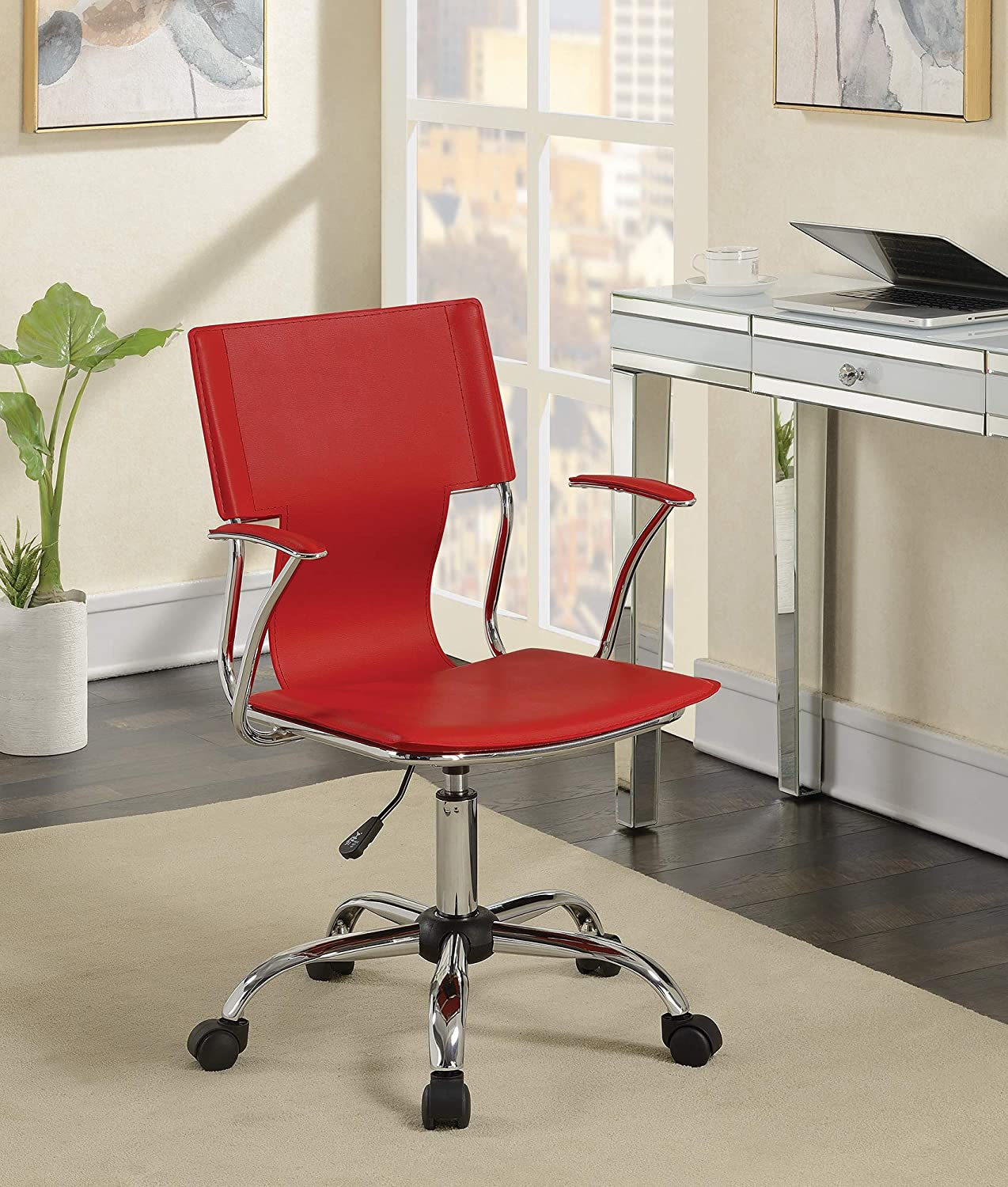 Benzara BM159149 Office Chairs Red