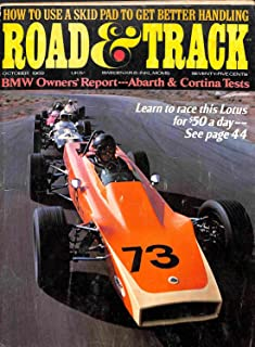 1969 69 October ROAD and TRACK Magazine, Volume 21 Number # 2 (Features: Road Test On Fiat Abarth OT 1300 & Ford Cortina GT + Jim Russell Driving School)