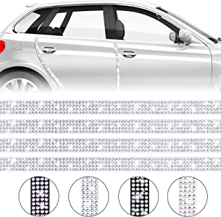 Frienda 4 Pieces Car Door Edge Guards Bling Car Door Bumper Protector Accessory Crystal Anti-Scratch Strip Sticker for Car...