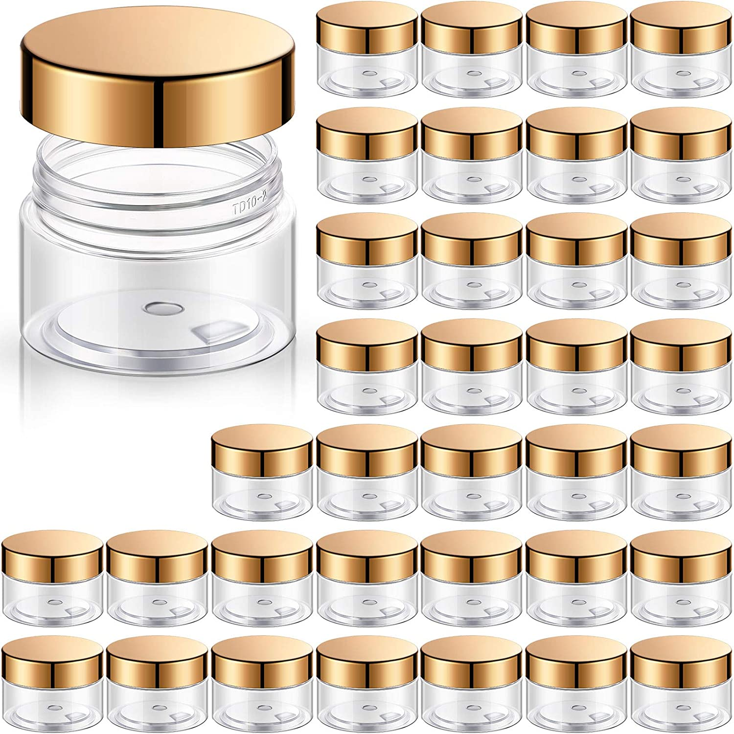 Sale item 36 Packs Plastic Jars Round Colorado Springs Mall Container Clear Leak Proof Cosmetic