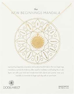 Dogeared - New Beginnings Mandala Center Star Necklace