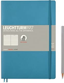 Leuchtturm1917 Softcover B5 Ruled Notebook- 121 Numbered Pages, Nordic Blue