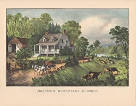 currier and ives lithographs american homestead