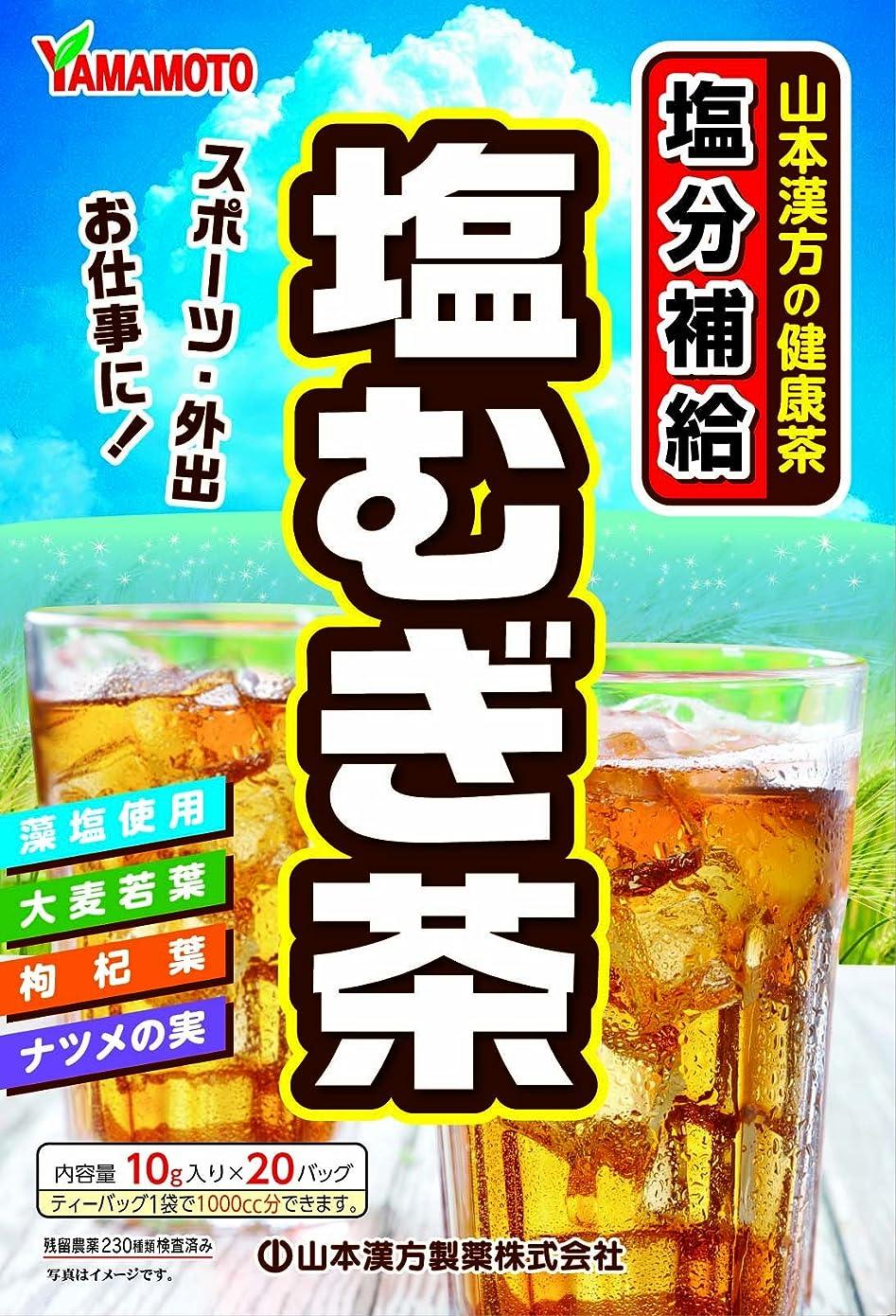 ピービッシュ残り相談する山本漢方製薬 塩むぎ茶 10g×20包