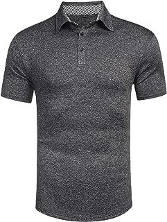 Men's Classic Casual Short Sleeve Plaid Collar Jersey Polo Shirt