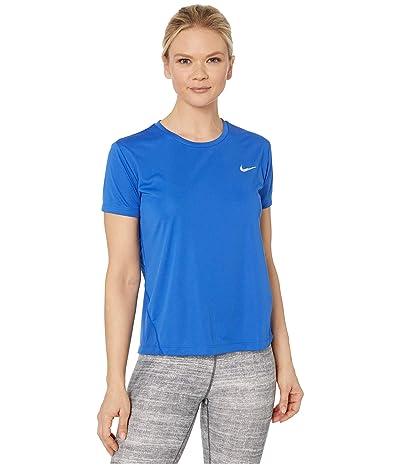 Nike Miler Top Short Sleeve (Game Royal/Reflective Silver) Women