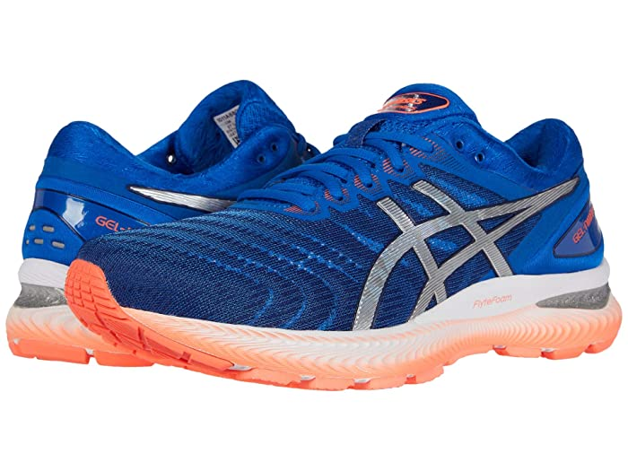 ASICS  GEL-Nimbus 22 (Tuna Blue/Pure Silver) Mens Running Shoes