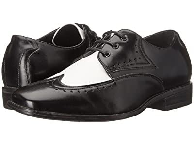 Stacy Adams Kids Atticus (Little Kid/Big Kid) (Black/White) Boys Shoes