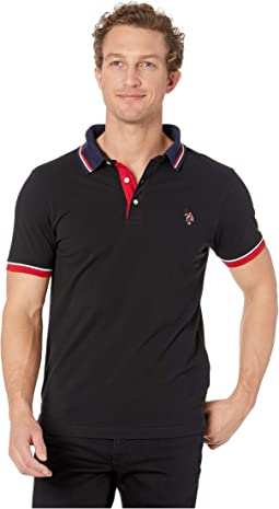 Slim Fit Contrast Pique Polo