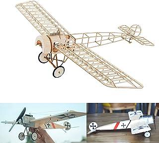 Fokker E.III Slow Flyer Kits de Modélisme, Maquette d'avion avec Bois de Balsa, Échelle 1/20, 450 mm d'envergure des Ailes...