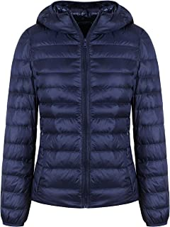 GEEK LIGHTING Women's Winter Down Jacket Ultralight Waterproof Stand Collar/Hooded