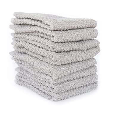 KAF Home Pantry Rittenhouse Terry Kitchen Dish Cloths Set of 8, 100-Percent Cotton, 12 x 12-inch (Drizzle)