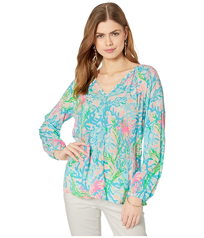 Lilly Pulitzer  Willa Top (Multi Coral Bay) Womens Clothing