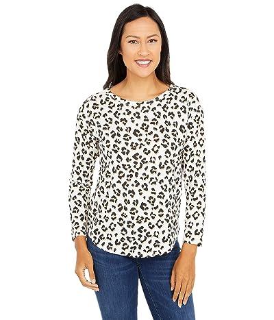 Lucky Brand Printed Easy Long Sleeve Tee (Leopard Multi) Women