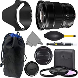 Fujifilm XF 10-24mm f4 OIS: (16412188) Fujifilm XF 10-24mm f/4 R OIS Lens + AOM Pro Starter Kit Combo Bundle - International Version (1 Year AOM Warranty)