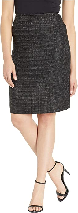 Tweed Skirt with Metallic Detail