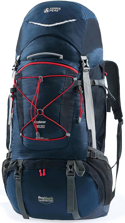 22c8078644f2 TERRA PEAK 55L105L Internal Frame Great Backpacking Gear or Pack for ...