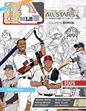 MLB All Stars 2019: The Ultimate Baseball Coloring, Activity and Stats Book for Adults and Kids (All Star Sports Coloring)