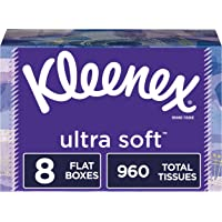 8-Pack Kleenex Ultra Soft Facial Tissues 120 Tissues / Box (960 Tissues Total)