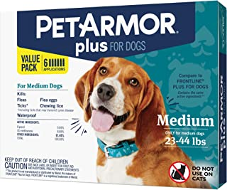 PETARMOR Plus for Dogs, Flea & Tick Prevention for Large...