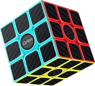 Cube Magique, Gritin 3x3x3 Speed cube de Vitesse Magique Lisse Facile à Tourner pour Jeu d'entraînement Cérébral ou Cadeau...