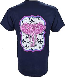 4e3ead414447a Southern Charm Elephant on a Short Sleeve Navy T Shirt