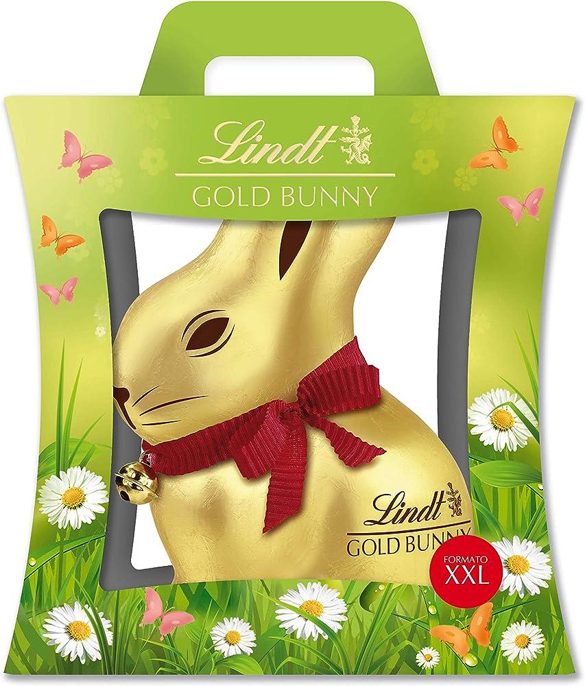 Lindt gold bunny, cioccolato al latte, 1000 g,regalo per pasqua